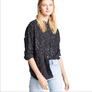MADEWELL Brushed Cotton/flannel stars shirt XS